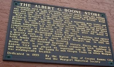 The Albert G. Boone Store Marker image. Click for full size.