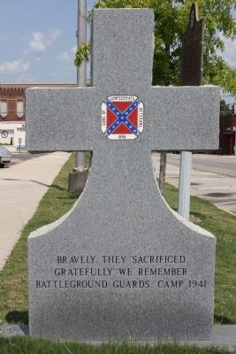 Confederate Memorial Marker, west face image. Click for full size.