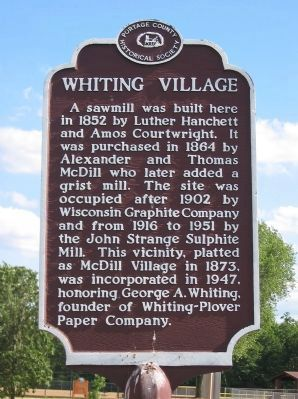 Whiting Village Marker image. Click for full size.