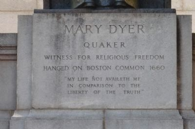 Mary Dyer Memorial, center panel image. Click for full size.