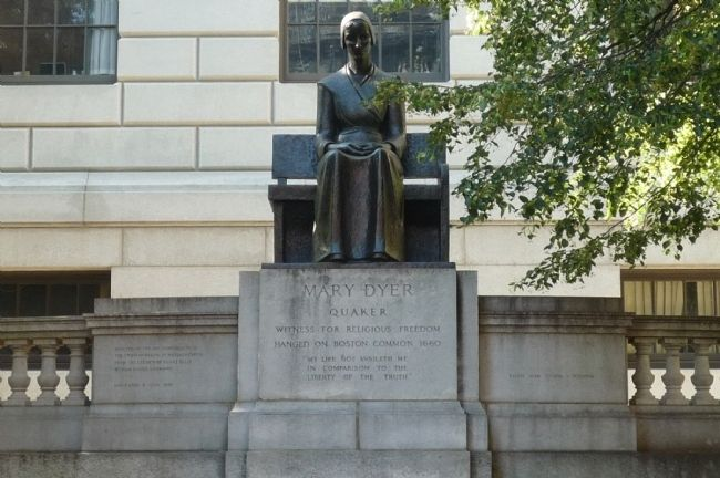 Mary Dyer Memorial image. Click for full size.