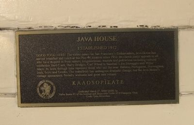 Java House Marker image. Click for full size.