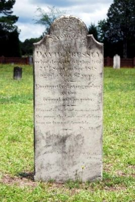 David Pressly Tombstone image. Click for full size.