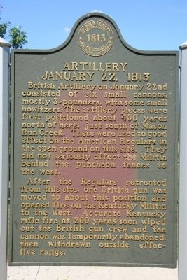 Artillery January 22, 1813 Marker image. Click for full size.