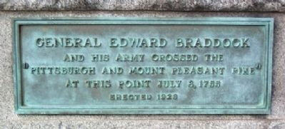 General Edward Braddock and His Army Marker image. Click for full size.
