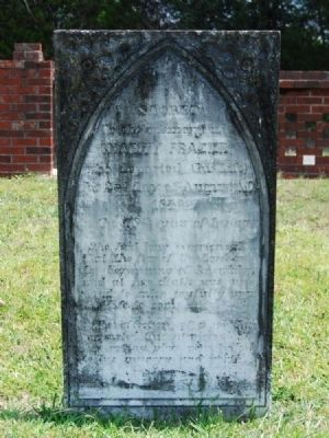 Charity Frazier Tombstone image. Click for full size.