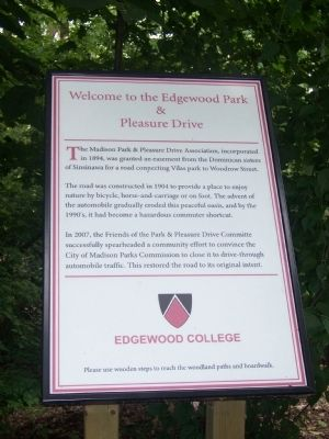 Welcome to the Edgewood Park and Pleasure Drive Marker image. Click for full size.