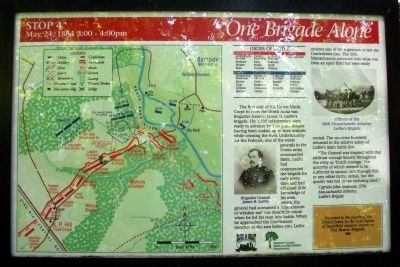 One Brigade Alone Marker image. Click for full size.