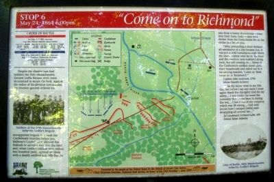 """Come on to Richmond"" Marker image. Click for full size."
