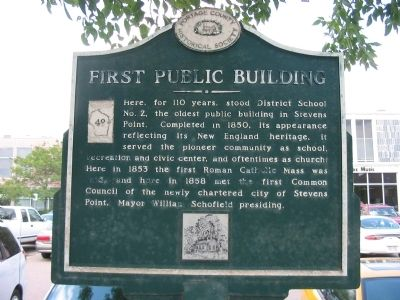 First Public Building Marker image. Click for full size.