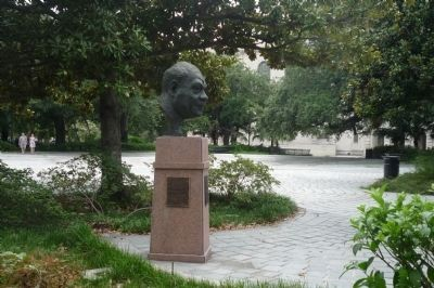 Sidney Joseph Bechet Memorial - Louis Armstrong Park, Congo Square, image. Click for full size.
