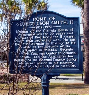 Home of George Leon Smith, II Marker image. Click for full size.