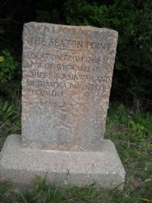 The Sexton Point Marker image. Click for full size.