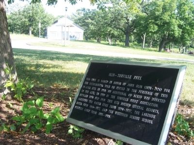 Additional Marker at Olin-Turville Park image. Click for full size.