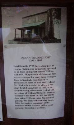 Indian Trading Post 1795 - 1809 image. Click for full size.