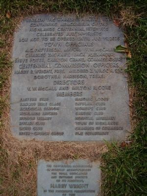 Time Capsule near the Samuel T. Kelsey Marker image. Click for full size.