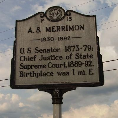 A.S. Merrimon Marker image. Click for full size.