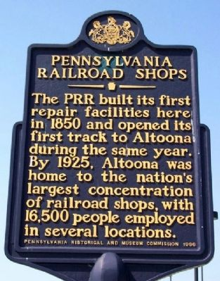Pennsylvania Railroad Shops Marker image. Click for full size.