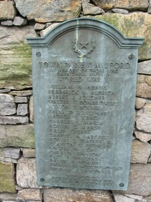New Milford WW II Memorial image. Click for full size.
