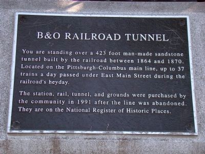 B&O Railroad Tunnel Marker image. Click for full size.