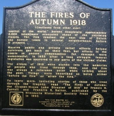 The Fires of Autumn 1918 Marker image. Click for full size.