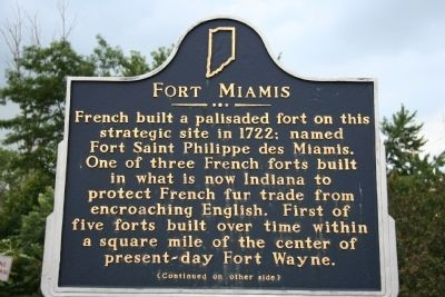 Fort Miamis Marker image. Click for full size.