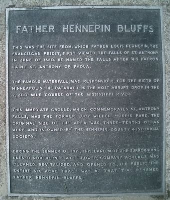 Father Hennepin Bluffs Marker image. Click for full size.