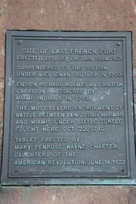 Site of Last French Fort Marker image. Click for full size.