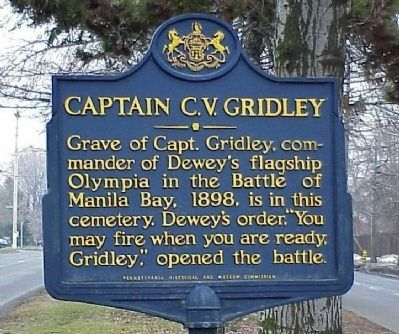 Captain C. V. Gridley Marker image. Click for full size.