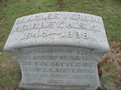 Captain C. V. Gridley Grave Marker image. Click for full size.