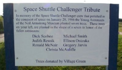 Nearby Space Shuttle Challenger Tribute image. Click for full size.