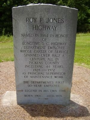 Roy F. Jones Highway Marker image. Click for full size.