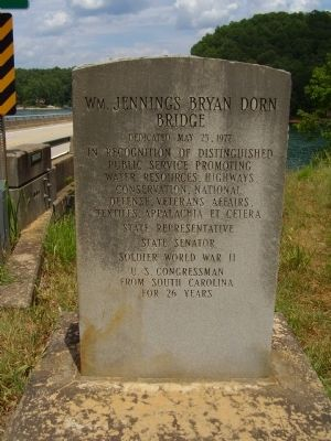 Wm. Jennings Bryan Dorn Bridge Marker image. Click for full size.