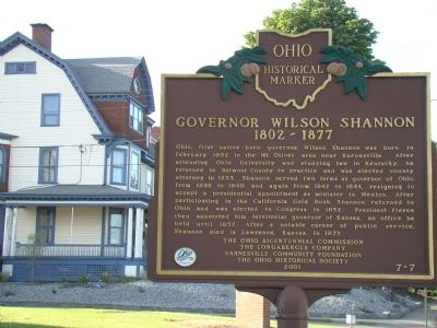 Governor Wilson Shannon Marker image. Click for full size.
