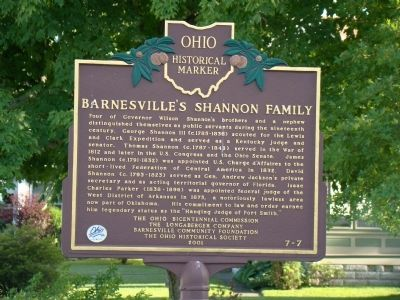 Barnesville's Shannon Family Marker image. Click for full size.