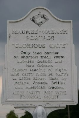 Maumee - Wabash Portage Marker image. Click for full size.
