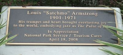 "Louis ""Satchmo"" Armstrong Marker image. Click for full size."