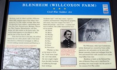 Blenheim (Willcoxon Farm) Marker image. Click for full size.