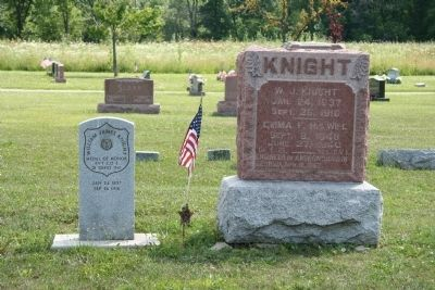 Grave Stones of William J. Knight image. Click for full size.
