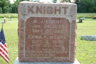 Grave Stone of William J. Knight image. Click for full size.