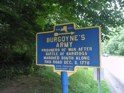 Burgoyne's Army Marker image. Click for full size.