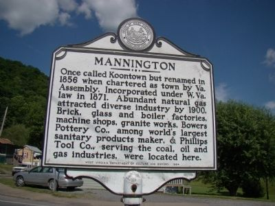 Mannington face of Marker image. Click for full size.