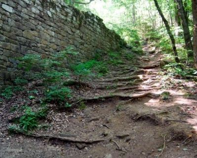 Poinsett Bridge Wall and Path image. Click for full size.