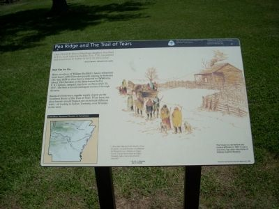Pea Ridge and the Trail of Tears Marker image. Click for full size.