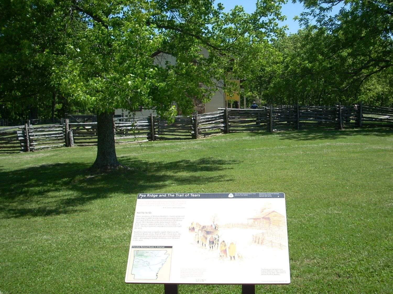 Pea Ridge and the Trail of Tears Marker