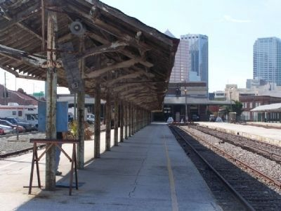 Tampa Union Station trackside of the old platform image. Click for full size.