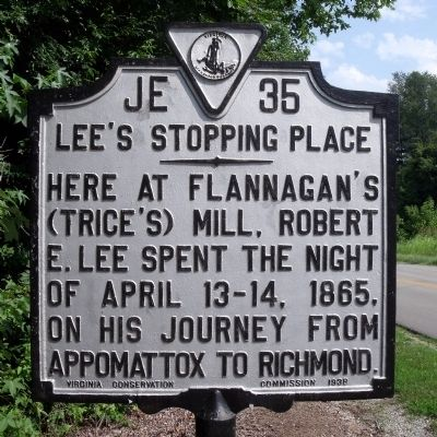 Lee's Stopping Place Marker image. Click for full size.