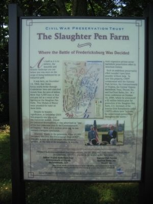 The Slaughter Pen Farm Marker image. Click for full size.