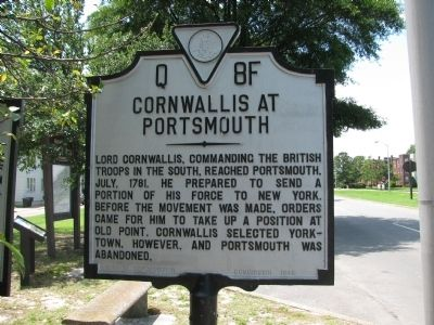 Cornwallis at Portsmouth Marker image. Click for full size.