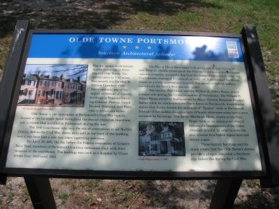 Olde Towne Portsmouth Marker image. Click for full size.
